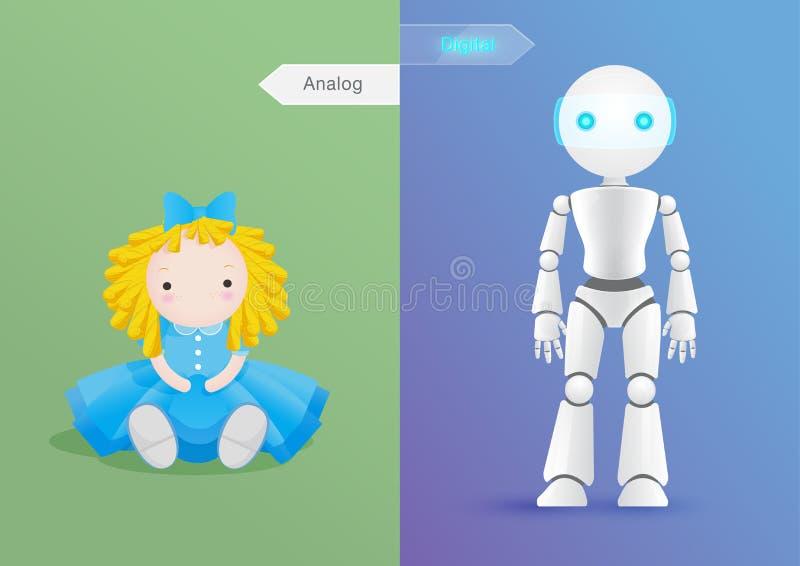 Doll in verandering stock illustratie