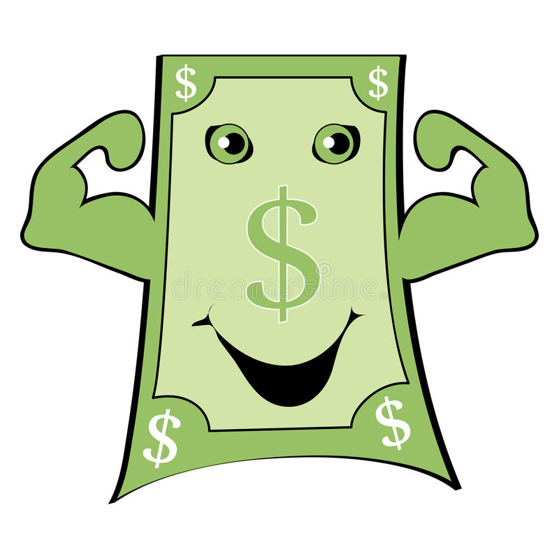Dollar. Powerful and strong dolar with high point praphic vector illustration