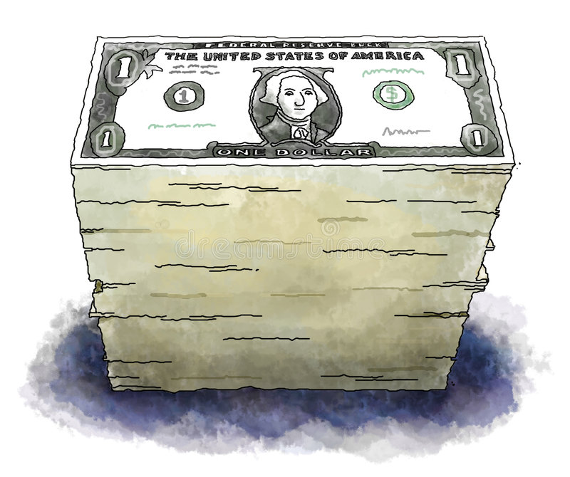 Dollar lizenzfreie abbildung