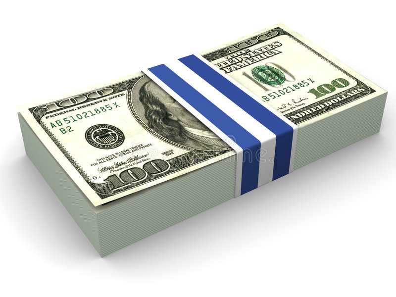Dollar. 3d lizenzfreie abbildung