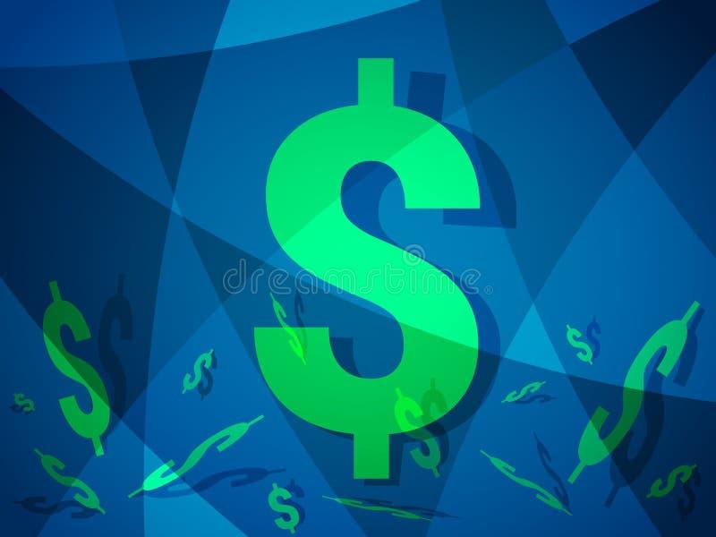 Dollar abstracte achtergrond met modern creatief ontwerp met Amerikaans geld stock illustratie