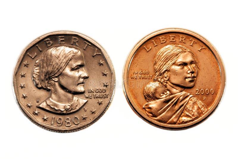 Comparaison américaine de pièce de monnaie du dollar