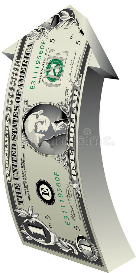 Dollar-arrow stock illustration