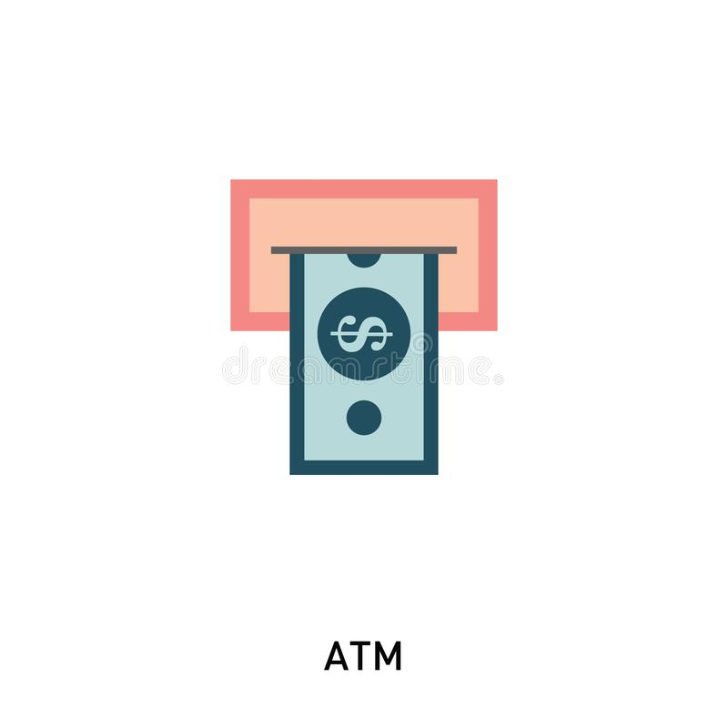 ATM Cash Icon royalty free illustration