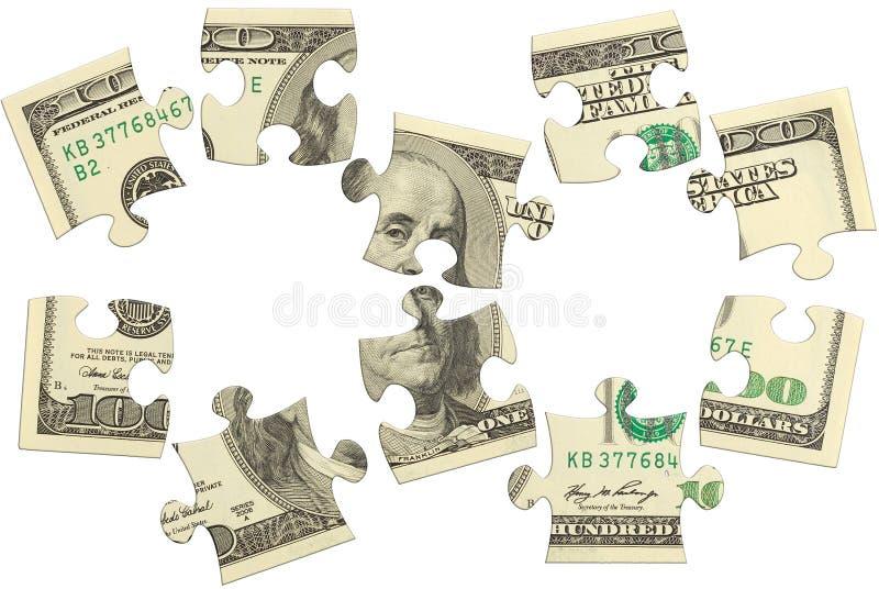 Dollar bank note money puzzle