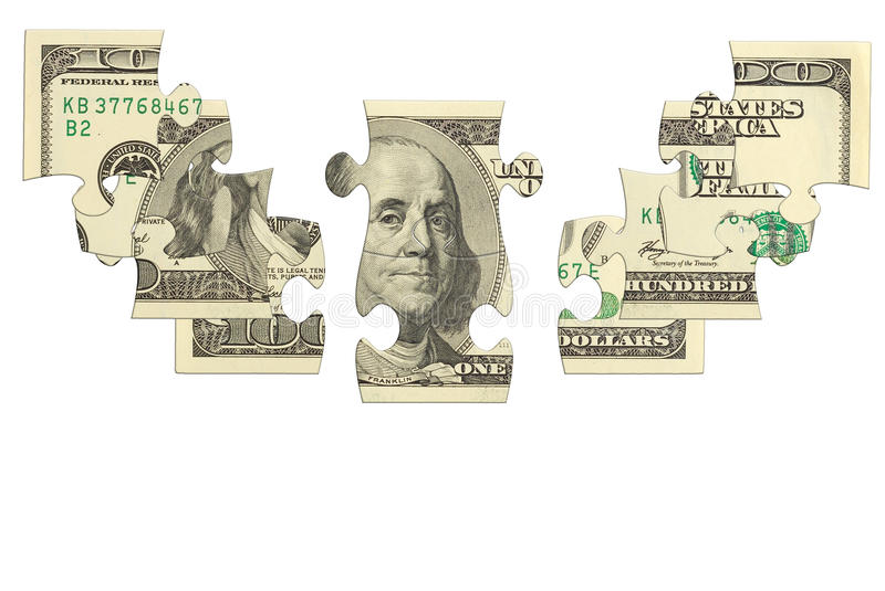 Download Dollar Bank Note Money Puzzle Stock Image - Image: 32214397