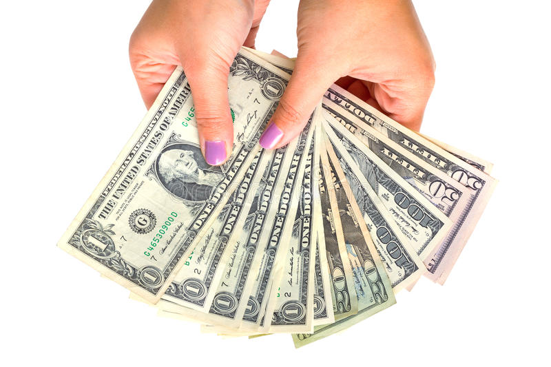 Download Dollar Banknotes In Female Hand Stock Image - Image: 38724771
