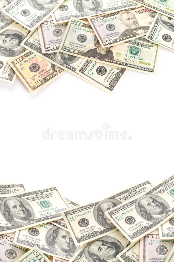 Download Dollar Banknotes Isolated Over White Stock Photo - Image: 30227758