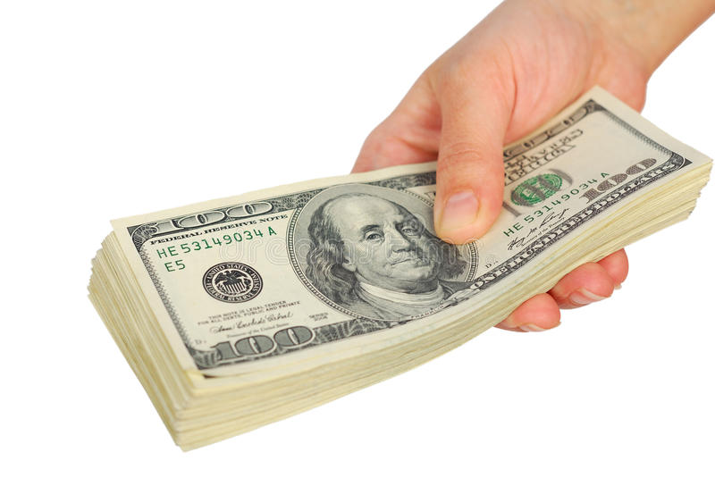 Download Dollar Bank Note Money In The Hand Stock Image - Image: 30247307