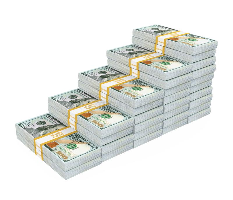 Dollar Bar Chart Graph Isolated royalty free stock images