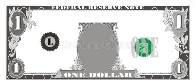 Dollar bill royalty free illustration