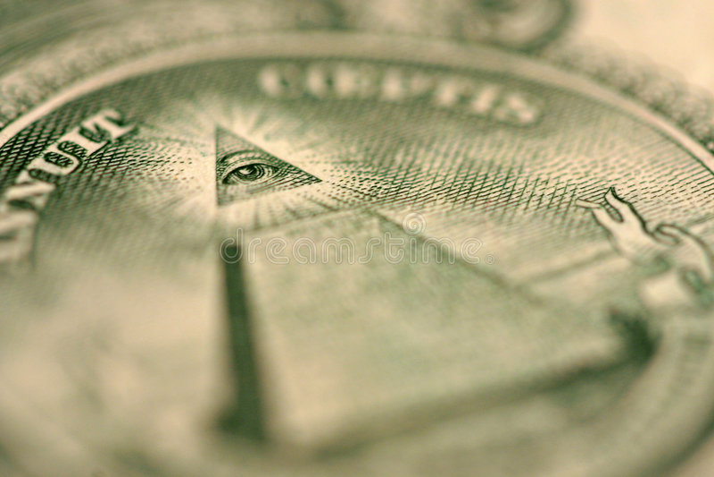 Dollar Bill Detail Macro stock photography