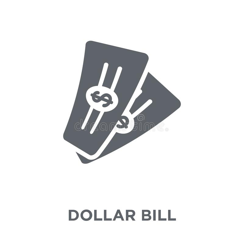 Dollar bill icon from Payment collection. royalty free illustration