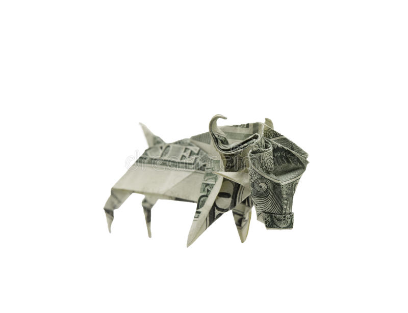 Money Origami ELEPHANT Right Side Folded With Real FIVE Dollar ...   615x800
