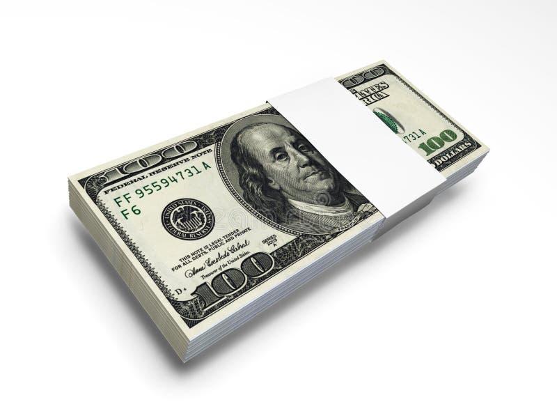 Dollar Bill Pack F1s Royalty Free Stock Photo