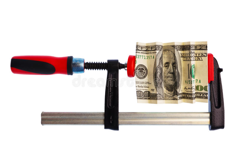 Download Dollar Bill Pinched In Clamp Stock Photo - Image of jobs, currency: 20243100