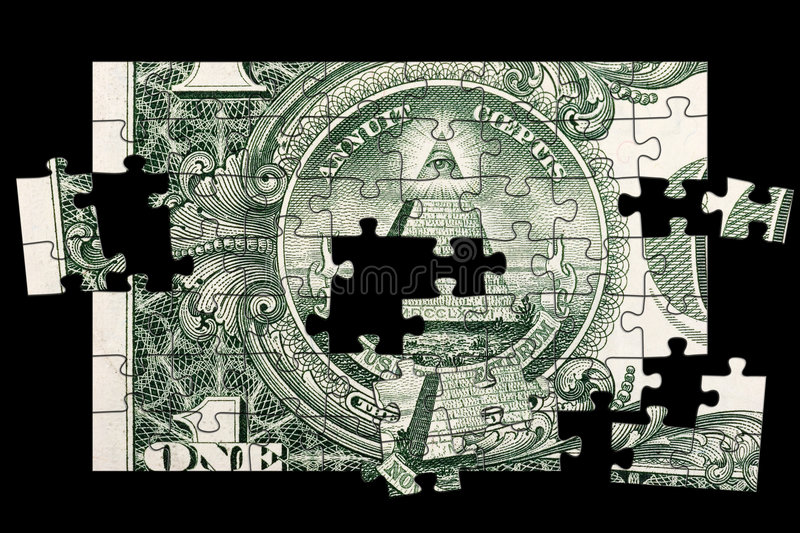 Download Dollar Bill Pyramid stock image. Image of coeptis, puzzle - 1287063