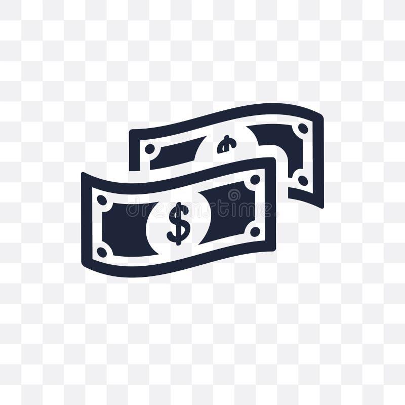 Dollar bill transparent icon. Dollar bill symbol design from Pay stock illustration