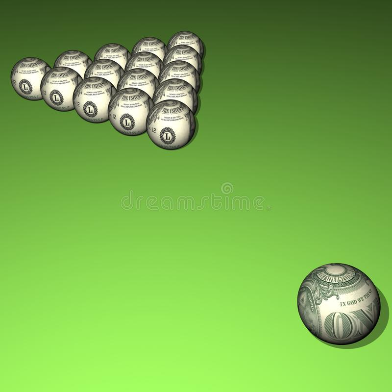 Download Dollar billiard spheres stock illustration. Image of finance - 16023063