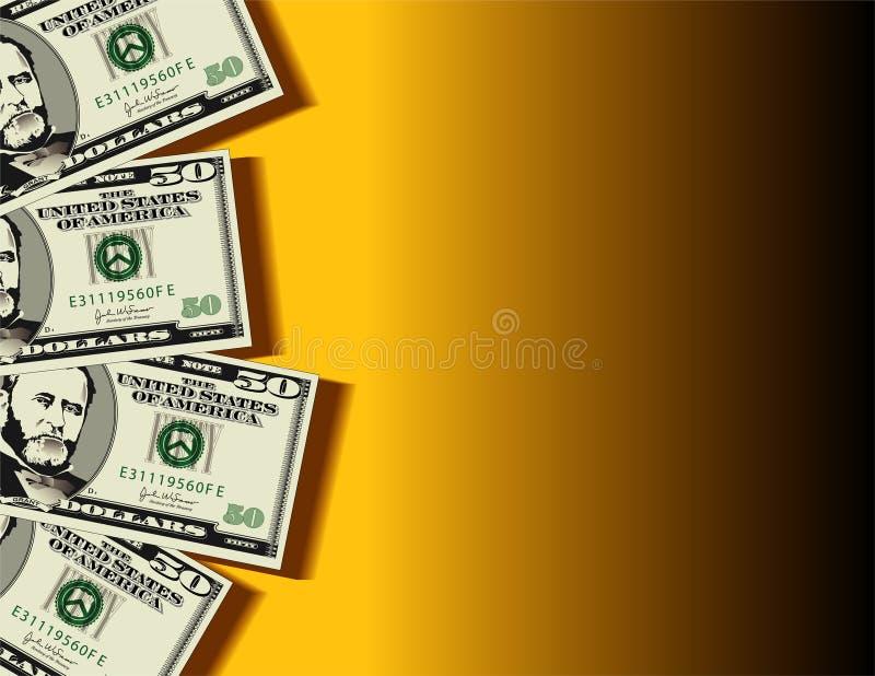 Dollar bills background stock illustration