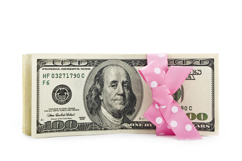 Download Dollar Bills With A Bow Stock Photography - Image: 13415932
