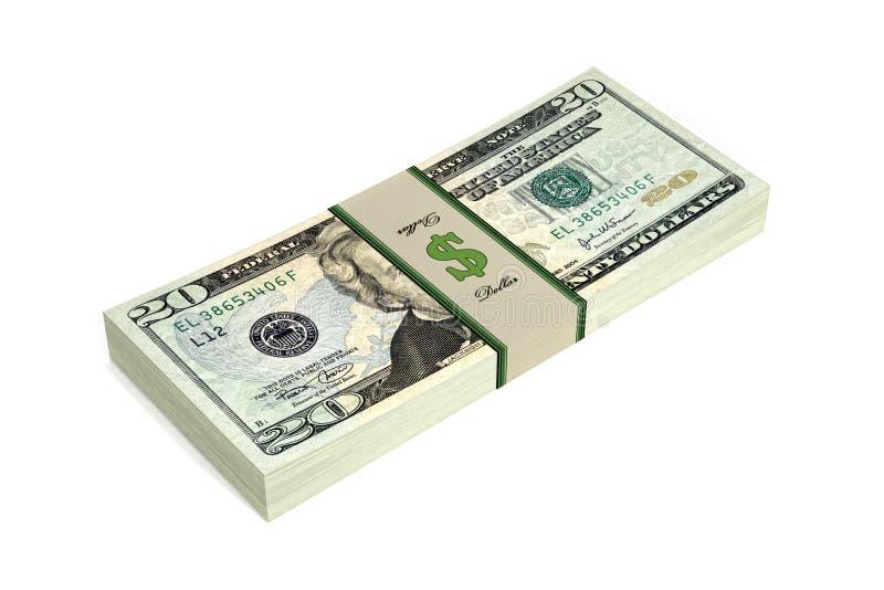 Download 20 Dollar bills stock illustration. Image of cash, bonanza - 32925435