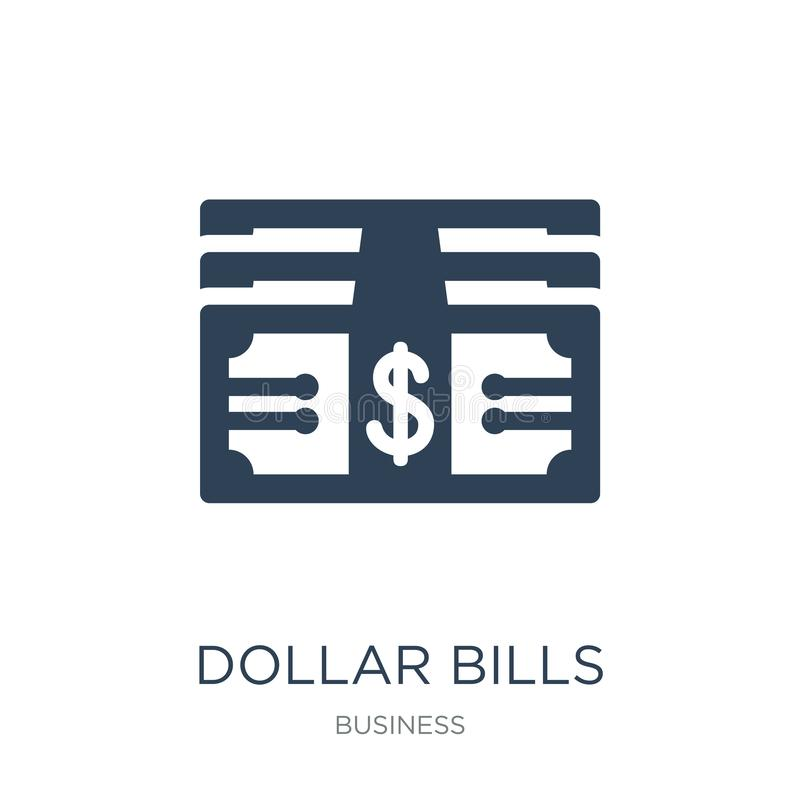 dollar bills icon in trendy design style. dollar bills icon isolated on white background. dollar bills vector icon simple and royalty free illustration