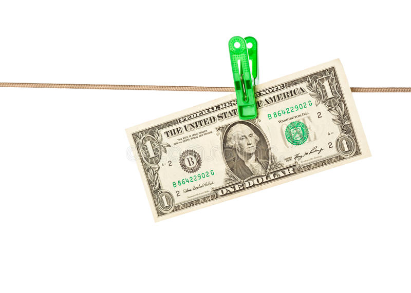 Download Dollar Bills Pinned To A Clothesline Stock Image - Image: 11034481
