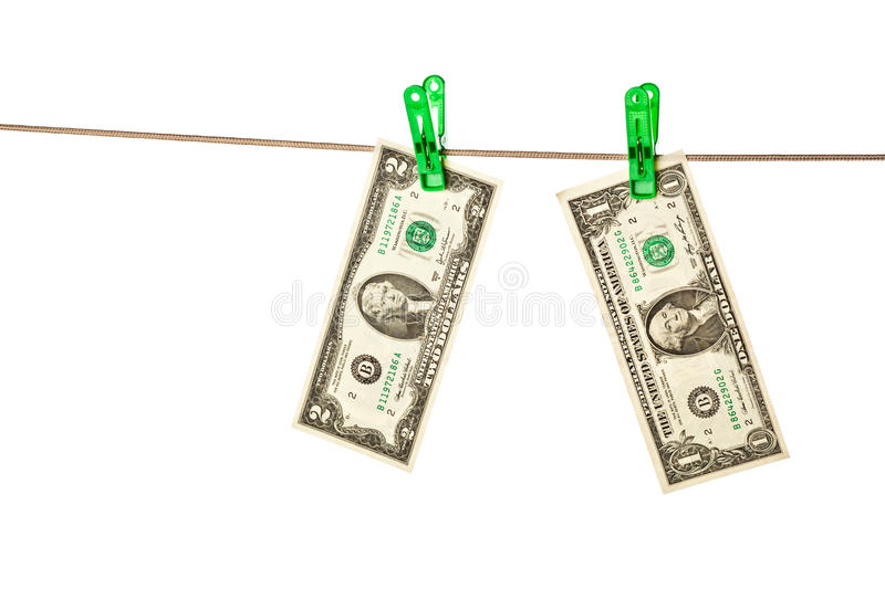 Download Dollar Bills Pinned To A Clothesline Stock Photo - Image: 11132986
