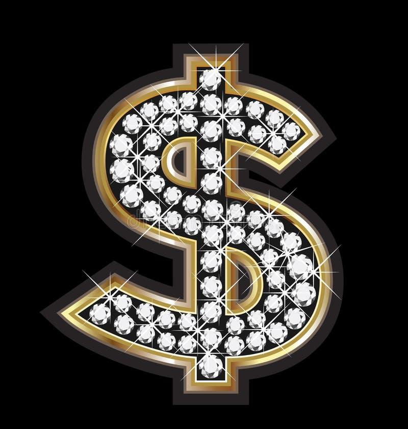 Dollar bling Bling stock abbildung