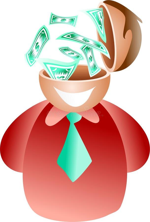 Dollar brain royalty free illustration