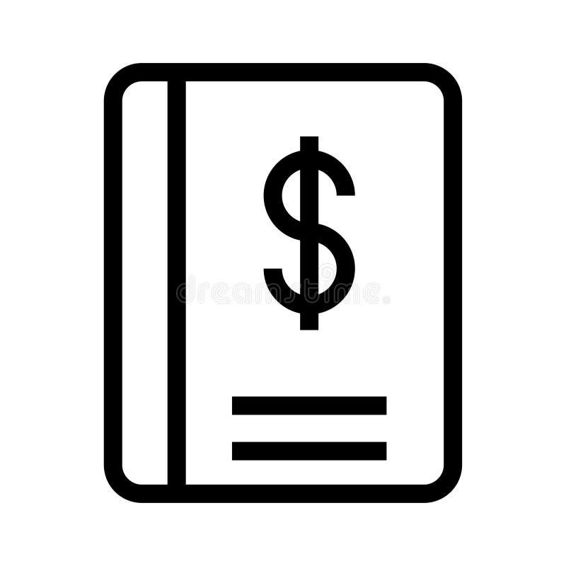 Dollar-Buchlinie Ikone vektor abbildung