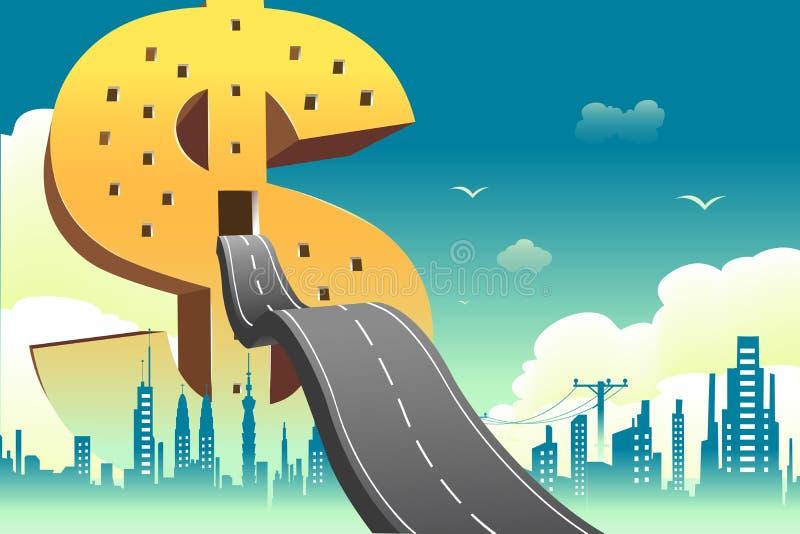 Dollar Building vector illustration