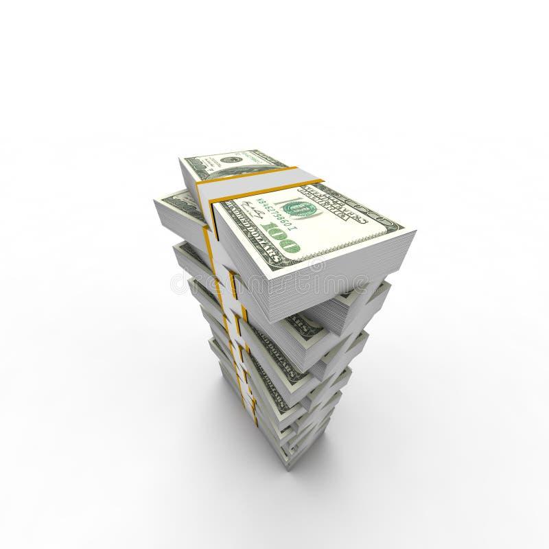 Dollar bunt royaltyfri illustrationer