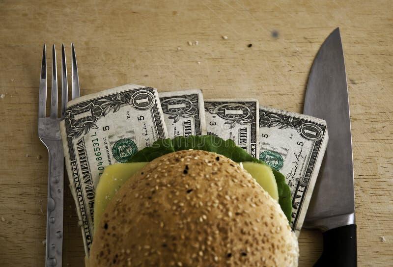 Dollar-Burger lizenzfreie stockbilder