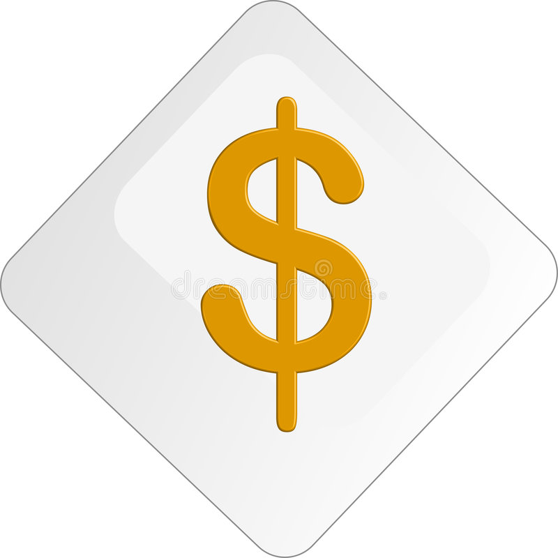 Free Dollar Button Royalty Free Stock Images - 3159759