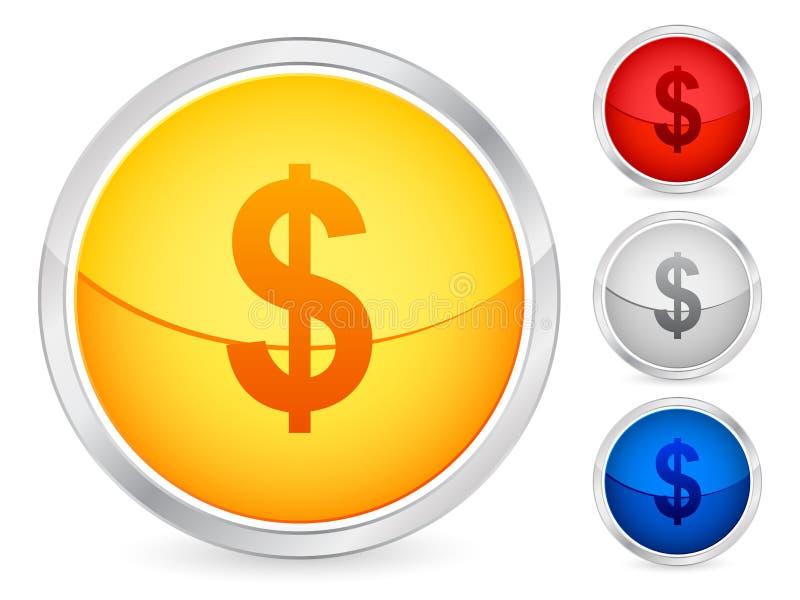 Dollar button stock illustration