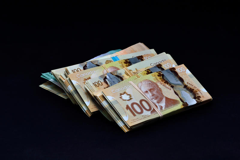 Dollar canadien image stock