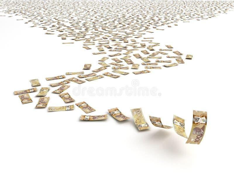 Dollar canadien en baisse illustration de vecteur