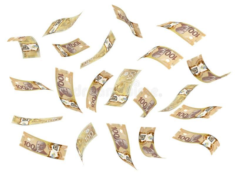Dollar canadien volant illustration de vecteur