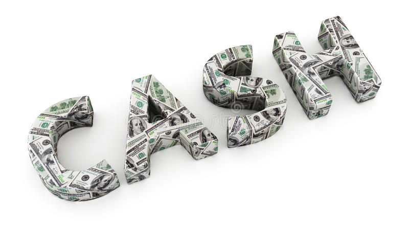 Dollar cash stock illustration