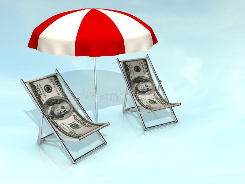 Dollar chair vector illustration