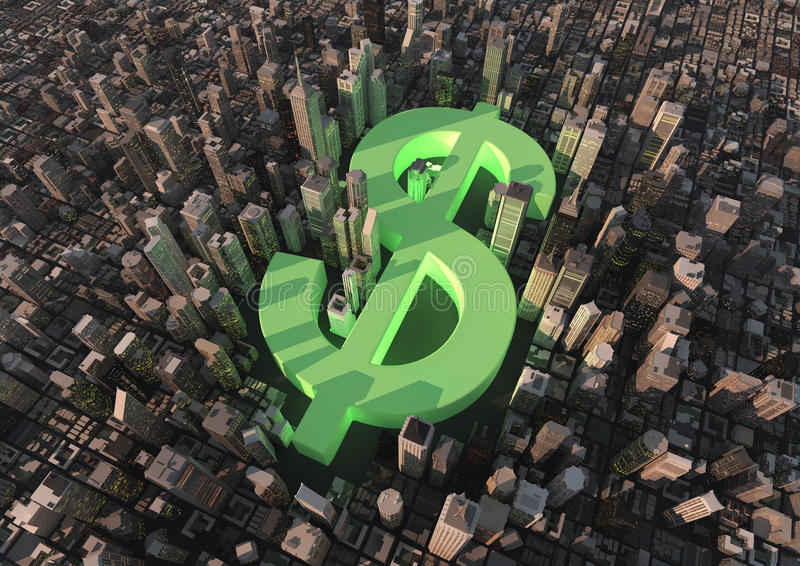 Download Dollar city stock illustration. Image of empire, view - 20961406