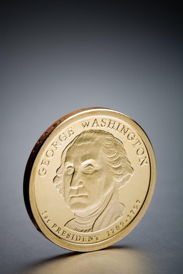 Dollar coin George Washington royalty free stock images