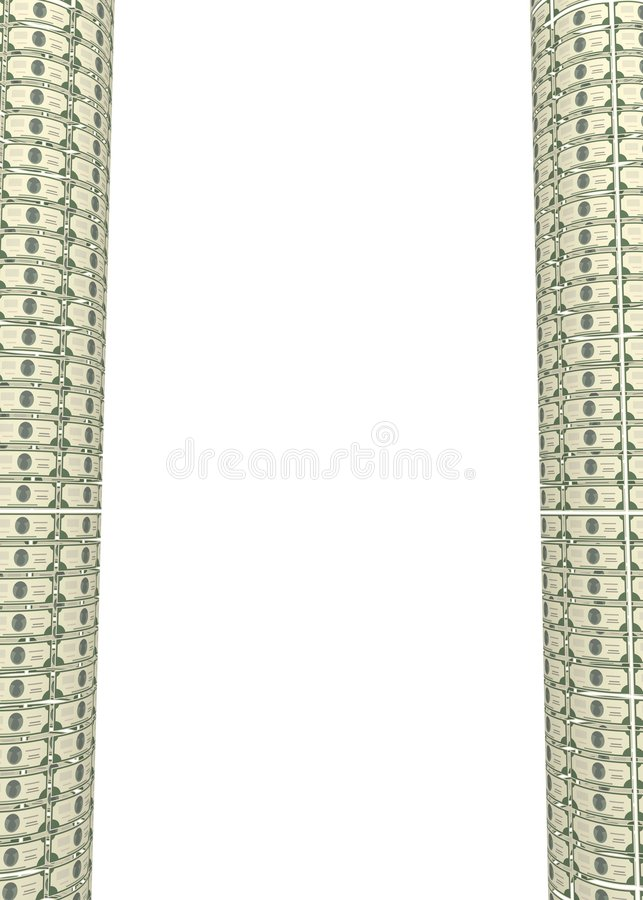 Dollar Columns Royalty Free Stock Photos