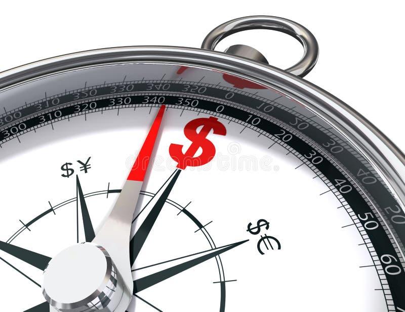 Dollar compass royalty free illustration