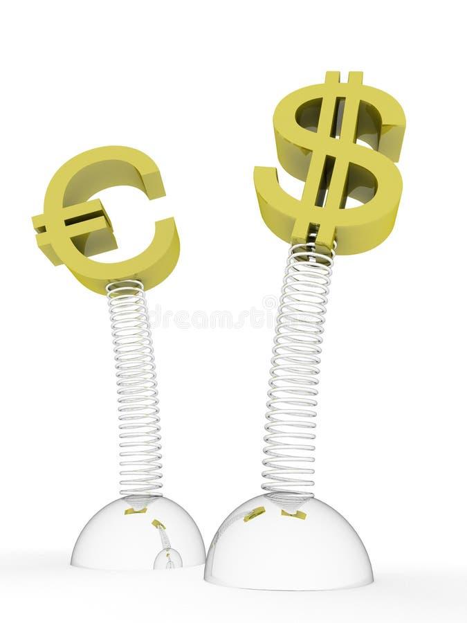 Dollar CONTRE l'euro illustration stock