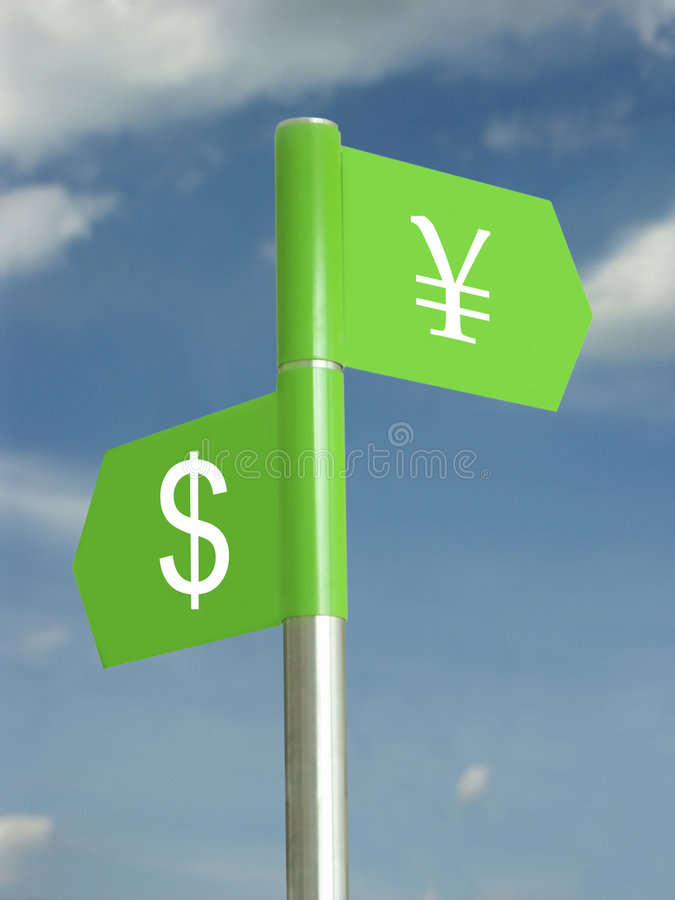Dollar contre Yens image stock