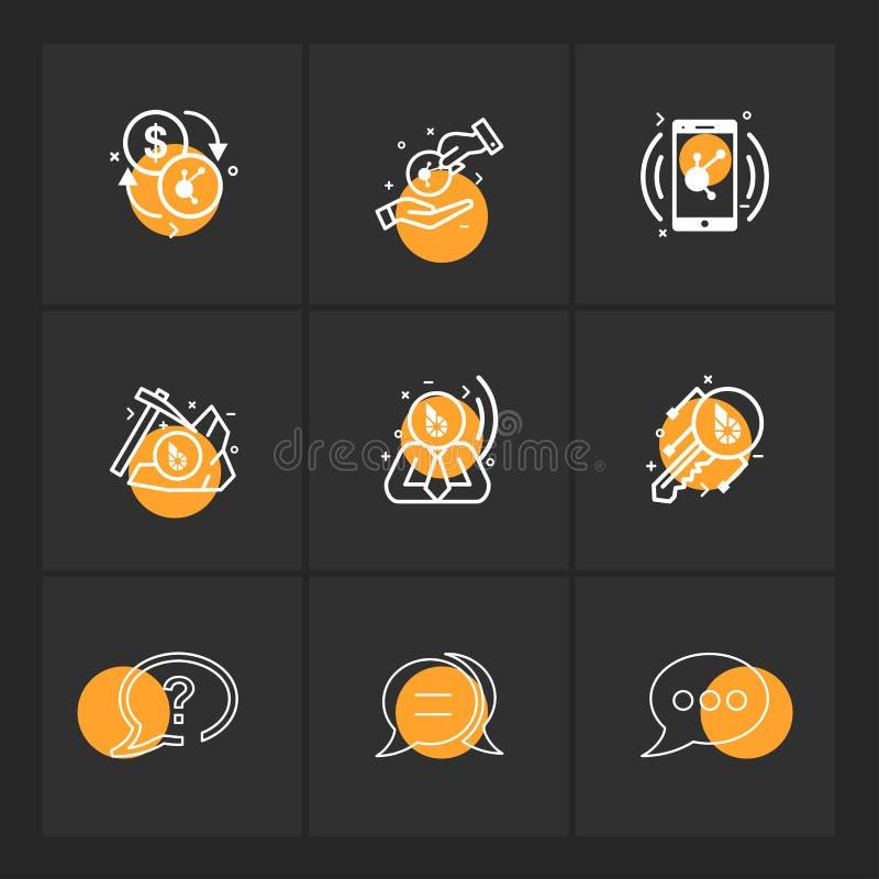 dollar, crypto, collectieve bijl, bericht, mobiel praatje, zeer belangrijk, royalty-vrije illustratie