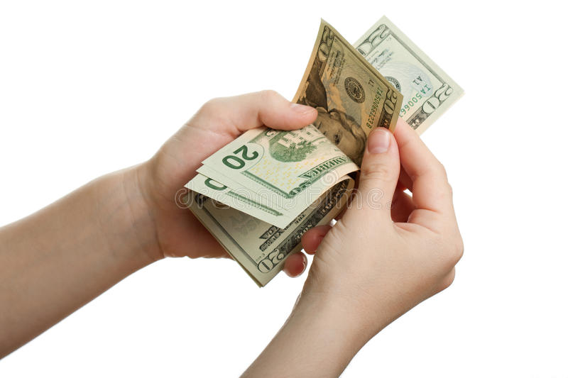 Download Dollar currency in hand stock image. Image of greed, counting - 13813145